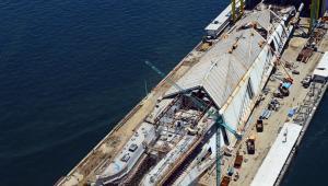 Vista aérea das obras do Museu do Amanhã - Outubro 2014