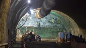 Obra do Túnel da Via Expressa - Praça Mauá