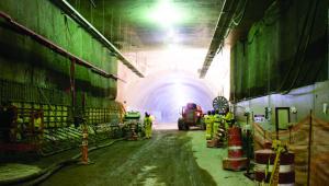 Obras de construção do Túnel Rio 450 - Via Binário - Janeiro 2015