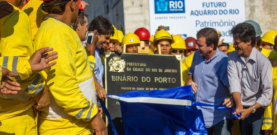 Inauguração da Via Binário do Porto