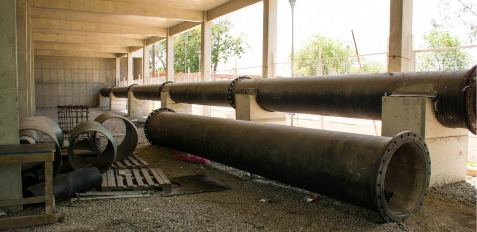 Obras da adutora que ligará o Reservatório do Pedregulho ao Reservatório do Morro do Pinto