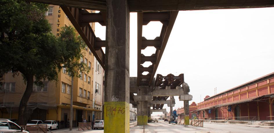 Obras retirada da Perimetral - Setembro 2014