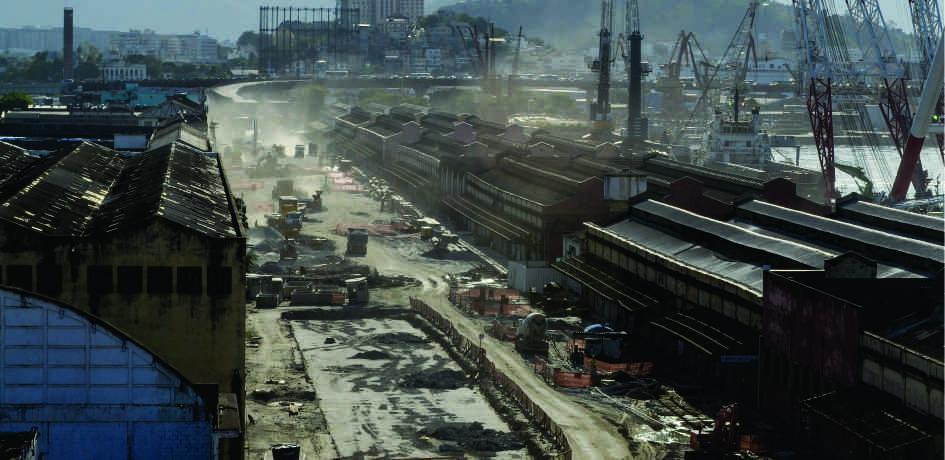 Obras região da Perimetral - Janeiro 2015