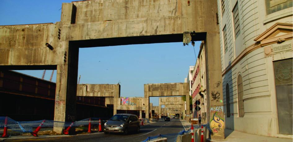 Obras de retirada do Elevado da Perimetral - Julho de 2014