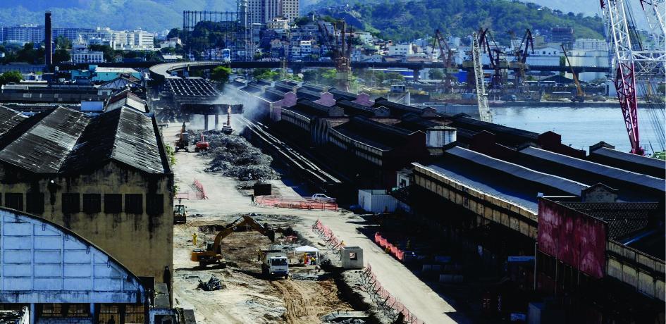 Obras de retirada do Elevado da Perimetral - Setembro de 2014