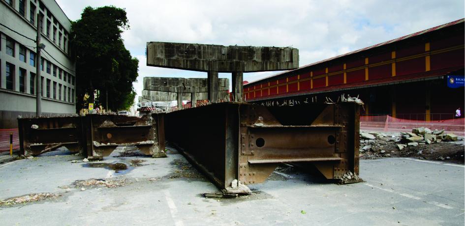 Obras de retirada do Elevado da Perimetral - Outubro de 2014