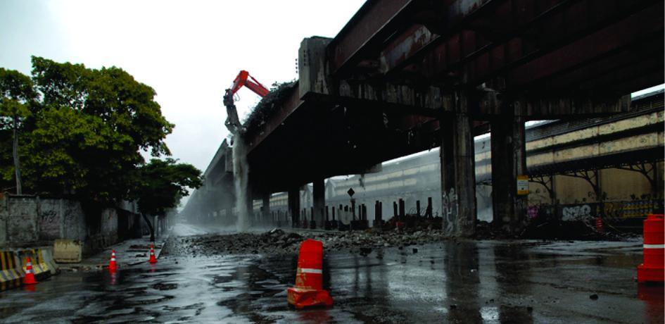 Obras de retirada do Elevado da Perimetral - Agosto de 2014