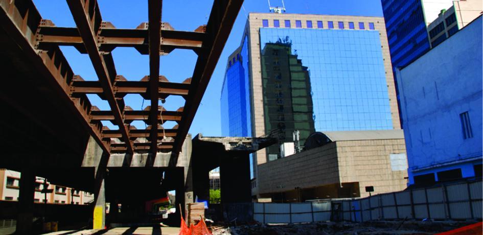 Obras de retirada do Elevado da Perimetral - Fevereiro de 2014