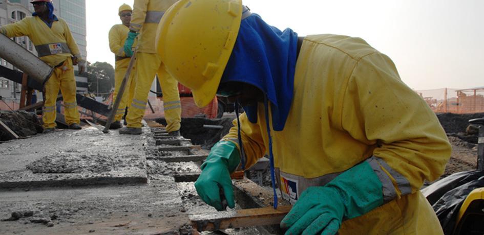 Construção da Via Expressa
