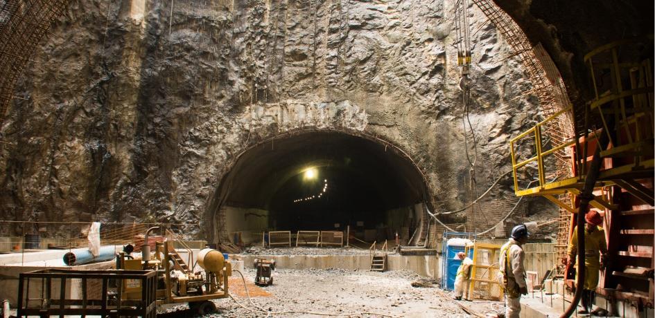 Construção do Túnel Rio450 que integra a Via Binário do Porto